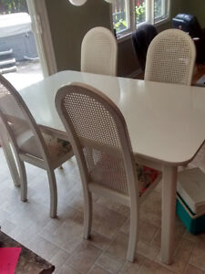 White Kitchen Table and 4 Chairs