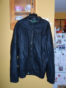 Point Zero black faux leather jacket