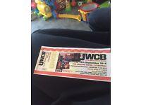 UWCB Tickets for tomorrow Sunday 18th September.
