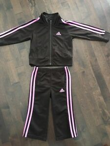 2T Pink & Brown Adidas Suit, Adidas Shoes