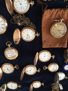 Wide Selection of Vintage / Antique Pocket Watches For Sale