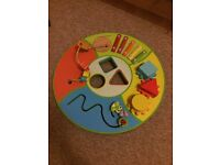 Chad Valley wooden activity table for baby and toddler