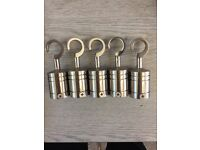 5 X 24mm satin hook ends for 24mm rope brand new