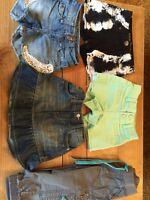Girls shorts, capris and skirt Size 7