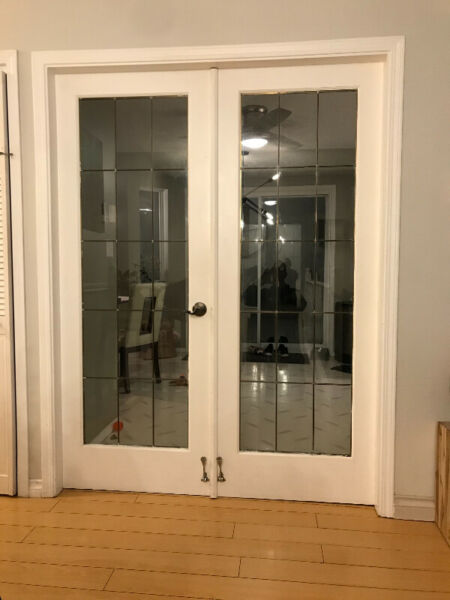Solid wood interior double french doors