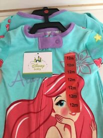 BRAND NEW 2PACK DISNEY BABY BABY GROWS
