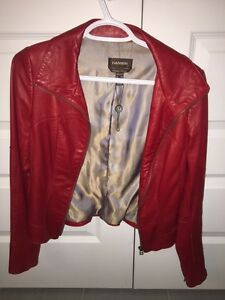 Real leather jacket - red - fall jacket - woman Gatineau Ottawa / Gatineau Area image 1