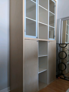 Ikea bookcase display cabinet