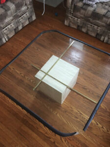 3 piece coffee table set glass and faux marble