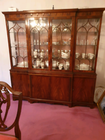 Display Cabinets Double Size, Mahogany, Repro, £175 each
