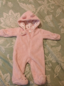 3-6m Baby Girl Winter Bunting Suit