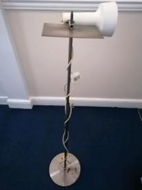 CLASSIC METAL CHROME FLOOR ARCHITECT LAMP - VINTAGE LIGHTING EQUIPMENT