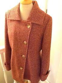 Per Una size 14 wool mix red coat