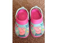 Peppa pig crocks size 5
