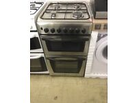 Indesit Stainless Steel and Black , Gas Cooker
