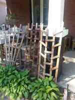 Tobacco slat plant tables,plant boxes,lattice,plant stands