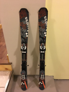 Practically New Salomon Youth 120 skis with bindings