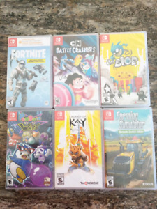 Nintendo Switch games - new & sealed