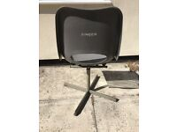 Singer industrial grey sowing machine swivel chair