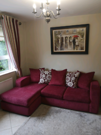 DFS corner couch with Ottoman