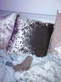 Cushion crushed sofa velvet mink cover only