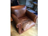 One Seater Leather Armchair Laura Ashley