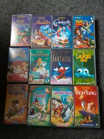 Disney vhs videos x 12