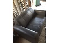 Two seater leather sofa (Grey) high quality