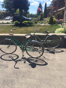 Vintage his and hers CCM cruisers