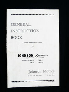 1949 Johnson 8.1 hp Owners Manual