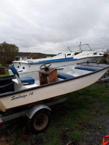 14 Ft. Boston Whaler/16 Ft. Bunk Trailer Inspected and Papers