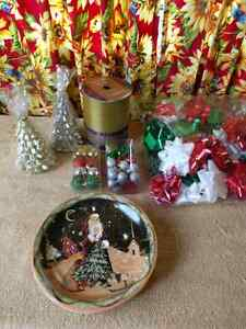 Christmas items all brand new, except the bag of bows has a few