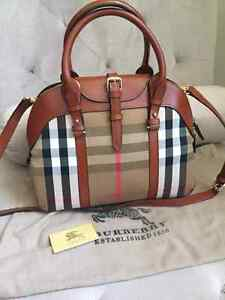 Burberry  bowling bag original  leather on sale
