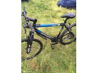Scott mountain bike with rock shox. Quick release wheels etc