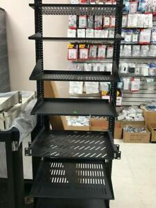 SERVER RACKS, SERVER SHELF , CABINET SHELF FOR SERVERS, DVR, AUDIO EQUIPMENT, COMPONENT DEVICES, GAMING CONSOLES VENTED