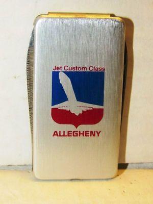 VINTAGE ALLEGHENY AIR LINES ADVERTISING MONEY CLIP FOLDING POCKET KNIFE