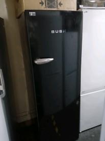 ➡️➡️SALE⬅️⬅️ TALL BLACK BUSH RETRO STYLE LARDER FRIDGE WITH ICE BOX