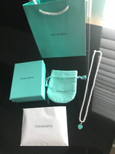 LIKE NEW AUTHENTIC TIFFANY BEADED HEART NECKLACE - RETAILS $340