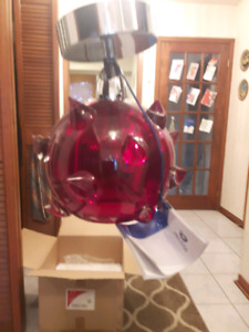 RED SOLITAIRE CRYSTAL LIGHT RED CRYSTAL BALL LIGHT