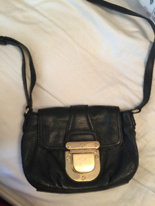 Michael Kors Charlston Small Crossbody Bag in Black Leather