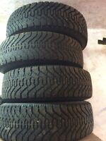 "15"" Goodyear Nordic winter tires on steel rims"