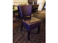 Faux Leather Burgundy Chairs x 6
