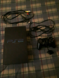 Ps2 with Controller and connection cables.