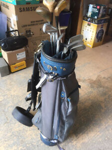 Golf clubs & caddy for sale