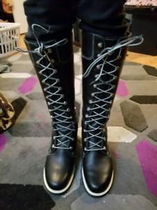 Timberlands black boots