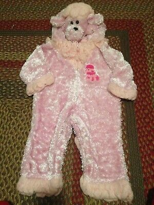 Poodle Pink Dog Puppy Halloween Costume Dress Up Complete Outfit 12-18 Months - Poodle Outfit
