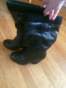 Never Worn Black High Heel Boots Kitchener / Waterloo Kitchener Area image 1