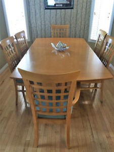 7 piece Maple Dining Set