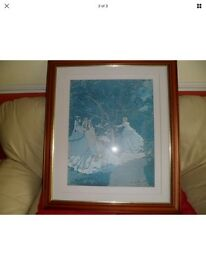 Claude Monet large print and frame