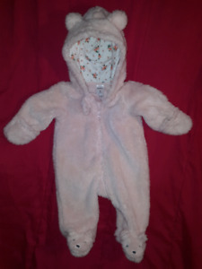 Carter's Baby Girls 1pc Suit 3mts,for CarSeat Stroller EUC